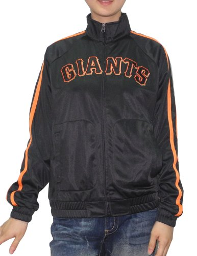 MLB Femmes San Francisco Giants Zip -up veste avec logo brodé Black