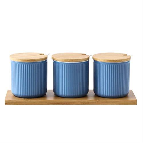 NJLJEEW/cupHousehold Kreative japanische Glasur Keramik Spice Jars Mode Küche WürzenHellgelb