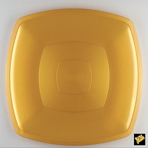 Assiette grande Nice or 290 mm x 290 mm 6 pièces