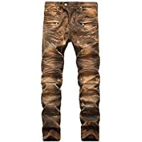 Geili Herren Jeans Hose Lang Vintage Used Look Destroyed Hohl Löchern Jeanshosen Denim Pants Basic Regular Fit... preisvergleich bei billige-tabletten.eu
