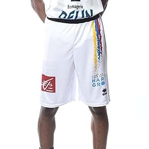 Errea JDA Dijon 2017-2018 Short de Basketball Homme, Blanc, FR : M (Taille Fabricant : M)