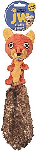 petmate-jw-crackle-heads-skippy-squirrel-squeaking-crunchy-plush-dog-toy-medium