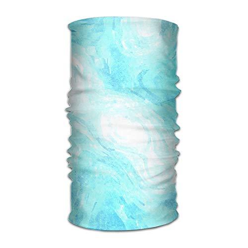 Jieaiuoo Headwear Headband Blue Watercolor Abstract Head Scarf Wrap Sweatband Sport Headscarves For Men Women - Flower Girl Satin Schuhe
