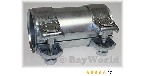 Auspuff Universal Rohrverbinder 70 X 125mm Doppelschelle Auto