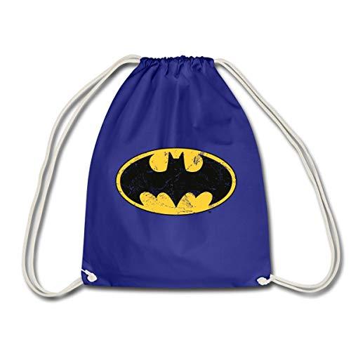 Gym Kostüm Bro - Spreadshirt DC Comics Batman Logo Used Look Turnbeutel, Königsblau