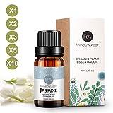 Jasmin Ätherisches Öl 100% naturreines ätherisches Öl Aromatherapie Jasminöl Duft Hautpflege, 3x10mL