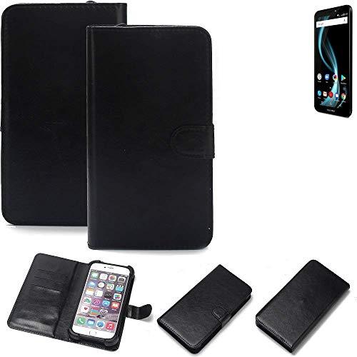 K-S-Trade 360° Wallet Case Handyhülle Allview X4 Soul Infinity L Schutz Hülle Smartphone Flip Cover Flipstyle Tasche Schutzhülle Flipcover Slim Bumper schwarz, 1x