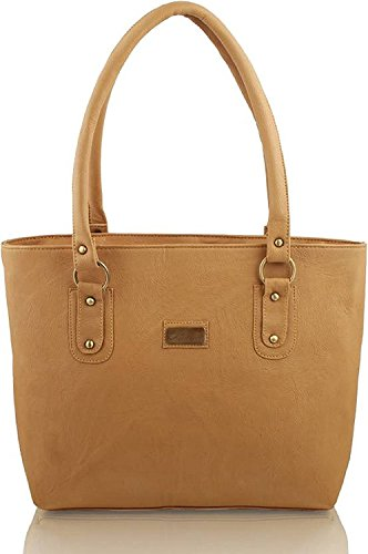 Flora Premium PU Leather Women's Handbag (Light Brown Color)