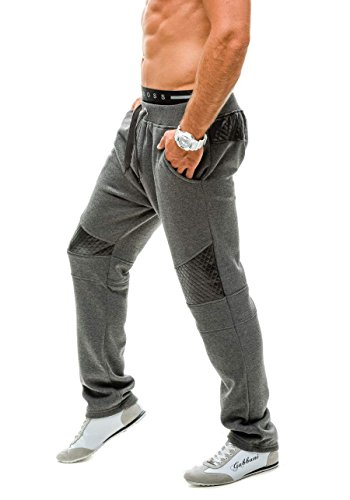 BOLF Herrenhose Baggy Sporthose Trainingshose Jogginghose Fitnesshose Mix 6F6 Anthrazit_K03