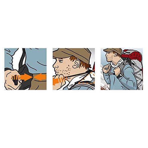 Ailier 40l zaino da trekking, arrampicata viaggio impermeabile borsa sportiva campeggio zaino per outdoor climbing scuola con sistema di sospensione, Rose red, 40 L Blue