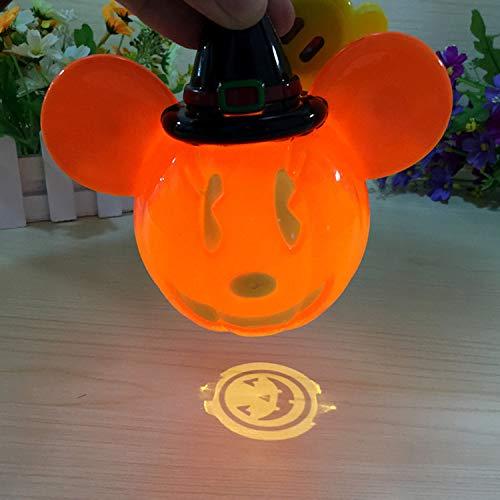WSXX Halloween - kürbis Geschenk Laterne Tragbare projektion licht Geist Musik Kind Spielzeug Lichter sparschwein