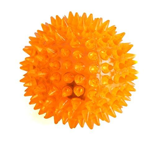 LED Bola para los perros Bola del masaje Bola Antiestrés con efecto de luz LED de color naranja por la marca PRECORN