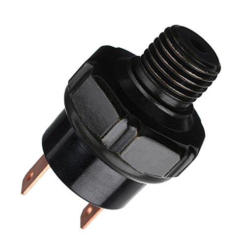 MagiDeal Universal Autos Druckschalter Kompressor 1/4 NPT-Außengewinde für Air Horn - Schwarz - 150-180psi