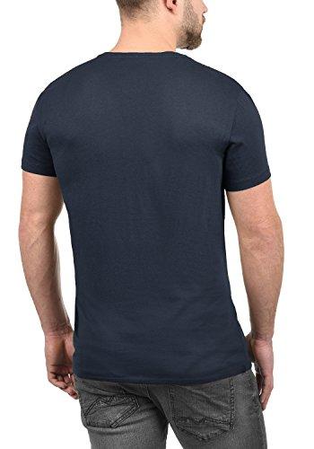 Blend Doppler Herren T-Shirt Kurzarm Shirt mit Rundhals-Ausschnitt Aus 100% Baumwolle Mood Indigo (74648)