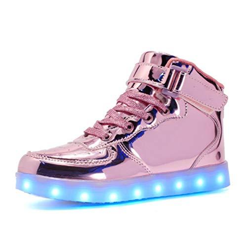 LED Schuhe Für Kinder Und Erwachsene USB Ladegerät Leuchten Kraft Für Jungen Mädchen Männer Frauen Fashion Party Glühende Turnschuhe - Schuhe 9t Schwarze