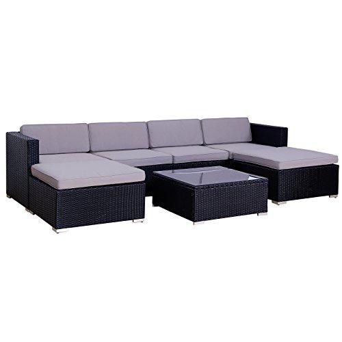 Svita Lugano Poly Rattan Lounge Garten Set Xxl Sofa Set Garnitur