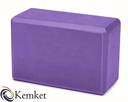 kemket Brique Bloc de Yoga en Mousse Bloc de yoga Violet Violet Brick