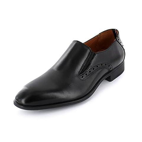 Tommy Hilfiger Rupert 11A Herren Business-Slipper aus Glattleder in schwarz Größe 43 Schwarz (black)
