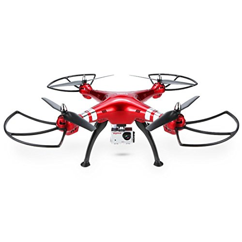 Hobbitos Syma X8HG Drone with 8MP HD Camera Altitude Hold Mode Quadcopter (GoPro Compatible), Red