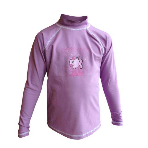 Langarm Schwimmen Shirt Mädchen (iQ-Company Kinder UV-Shirt 300 Long Sleeved Candyfish, 2336_violet, 128, 687316_2336_128)
