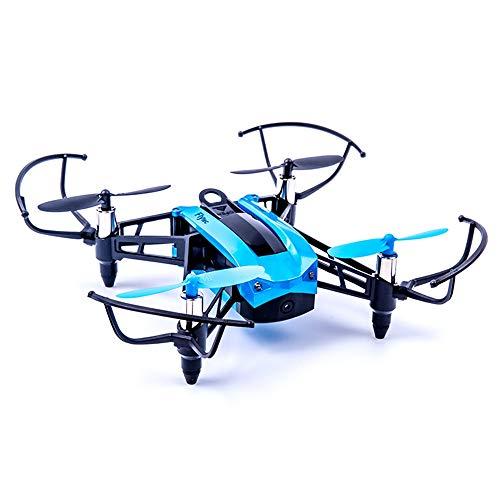 YEARYOWN Drone RC, 2.4GHz de Control Remoto Quadcopter 2 Millones de cámaras de Alta definición con lámpara de Giro de Seis Ejes, Anti-interferencia, Duradero y Duradero,Blue