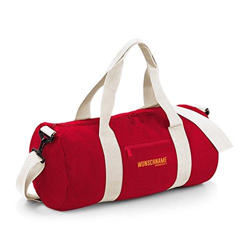 Preisvergleich Produktbild Sporttasche, robust und strapazierfähig! Umhängetasche, Small mit persönlichen Wunschnamen bedruckt! Für Freizeit, Sport