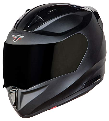 Steelbird SA-1 7Wings Aeronautics Full Face Helmet in Matt Finish (Large 600 MM, Matt Axis Grey with Smoke Visor)