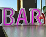 LED-Lichterkette mit Buchstaben von A bis Z Alphabet für Hochzeit, Zuhause, Bar, Weihnachten, Nachtlichter, Festival, Geburtstag, Party, Dekoration, Warmweiß Purple Bar-small