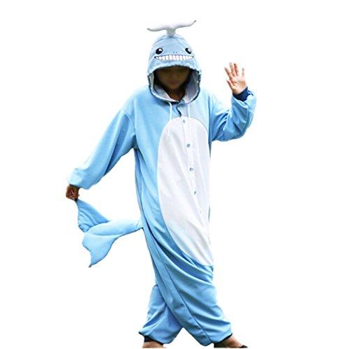 wotogold Damen 1 Tier Narwhal Pyjamas Cosplay Kostüme 1 X-Large Blau