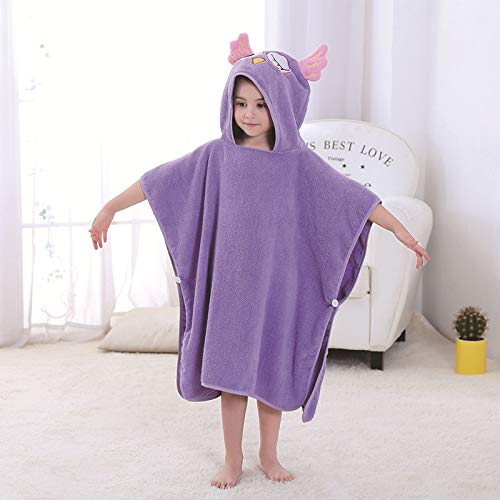 Bath Hooded Baby Towel - Bech Kids Hooded Wrap, Cartoon Albornoz Microfibra...