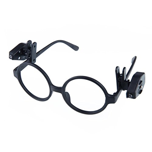05 Einzelnes Licht (Jaminy Beweglicher Clip Auf Augen Brille Licht Lupe Lesen LED Lupe Kleines Volumen, Geringes Gewicht, Gute Beweglichkeit)