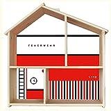 Limmaland Feuerwehr Aufkleber passend für IKEA FLISAT Holz Puppenhaus - Möbel Nicht inklusive