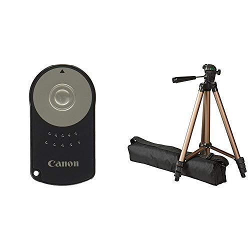 Canon RC-6 Infrarot-Fernauslöser & AmazonBasics Dreibein Stativ 127 cm leicht mit 3-Wege Kopf (Canon Kamera-auslöser Fernbedienung)