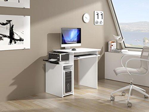 Habitdesign 002384MO - Mesa ordenador con bandeja extraible, color Bla