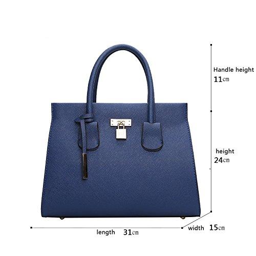 Sunas Borse della borsa del sacchetto di spalla del messaggero del sacchetto di spalla della borsa delle signore di modo blu