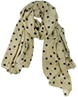 Womdee(TM) Fashion Charming Beautiful Warm Black Polka Dot Scarf Wrap Women Lady Girl Shawl-Beige With Womdee Accessory