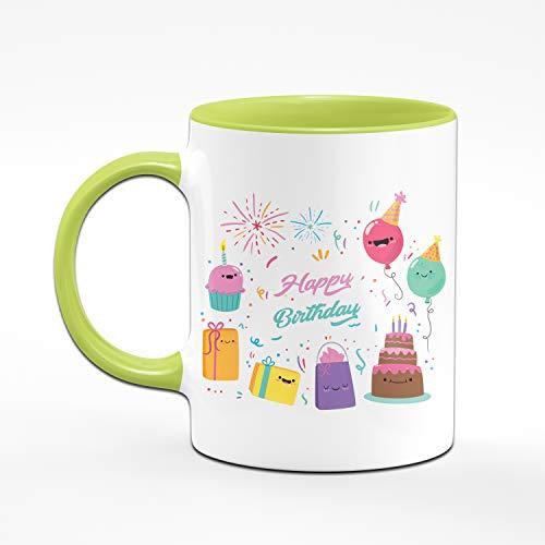Tassenbrennerei Happy Birthday Tasse zum Geburtstag für Das Geburtstagskind - Geburtstagsgeschenk, Geschenk Tassen mit Sprüchen (Grün) - 2