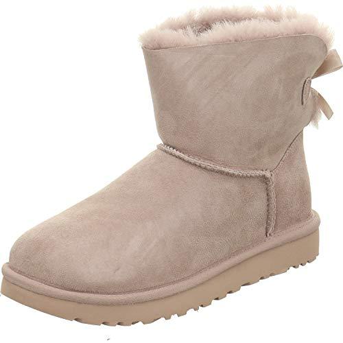 UGG Damen Mini Bailey Bow II Boot Rosa 41 (Rosa Ugg Damen Stiefel)