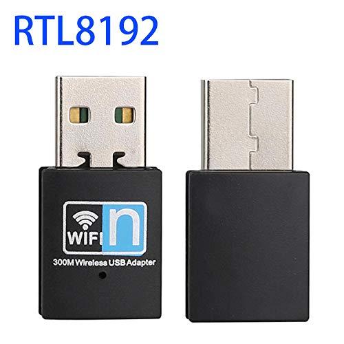 Bankaa 300 Mbit/s Mini-USB-WLAN-Adapter Drahtloser Dongle-Netzwerkadapter für Laptop/Desktop-Computer -
