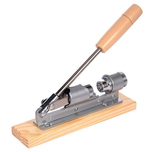 Cascanueces con mango de madera de acero inoxidable mecánico Sheller Walnut Abridor...