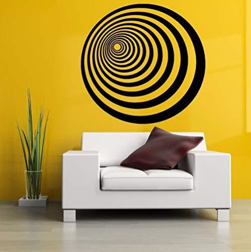 Adesivi murali design astratto cerchi per soggiorno complementi arredo casa decalcomanie da parete in vinile camera da letto arte adesivi decorazione 42x42 cm