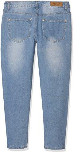 Boohoo Petite Damen Jeans Sarah Mid Rise Mom Blau (Light Blue)