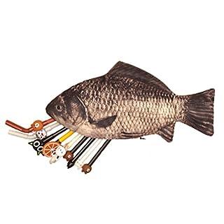 LUOEM Fisch Federmäppchen Lustige Karpfen Make-up Tasche Geldbörse mit Reißverschluss