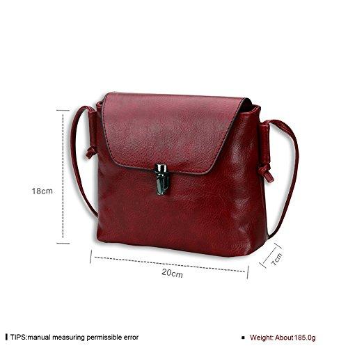 Signore europeo moda borse borsa a tracolla (colori assortiti)-Rosso Rosso