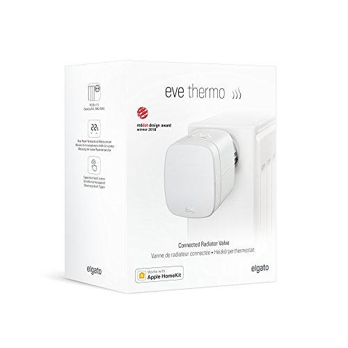 Elgato Eve Thermo - Heizkörperthermostat mit Apple HomeKit-Technologie, LED-Display, integriertes Touch-Bedienfeld, Automatische Temperatursteuerung, Keine Bridge erforderlich, Bluetooth Low Energy - Bild 5