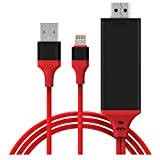 Hoidokly Lightning to HDMI Cable 1080P Plug and Play Cable HDMI Video AV Cable Connector Conversion Same Screen Device HDTV Adapte for iPhone X/8/7/6/5series/iPad Air/Mini/Pro/iPod Touch