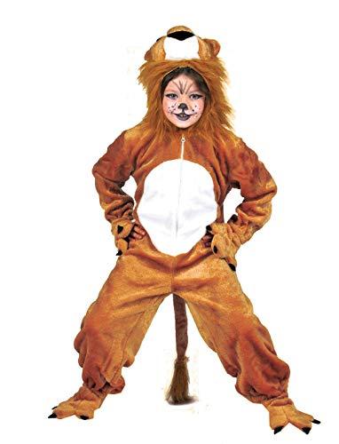 Pierro´s Kostüm Löwe Simba Kinderkostüm Jungenkostüm Mädchenkostüm Komplettkostüm Größe 104 für Karneval, Fasching, Party