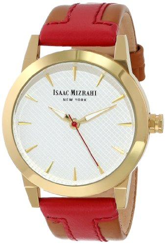 isaac-mizrahi-womens-imn18r-red-gold-tone-polished-case-red-luggage-leather-strap-watch