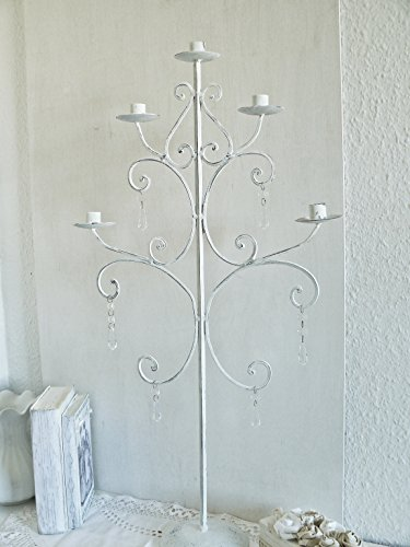 Unikat handmade PRACHTVOLLER XXL-KERZENLEUCHTER shabby Kerzenständer Kerzenhalter Lüster Leuchter