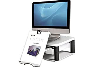 Fellowes Premium Adjustable Monitor Riser Plus - Platinum (B00003ETR2) | Amazon price tracker / tracking, Amazon price history charts, Amazon price watches, Amazon price drop alerts